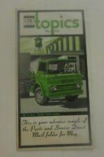 May 1966 GMC Topics Fuel Injection Pump Factory Exchange Brochure