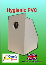 Table top Budgie nest/breeding box removable MDF concave hygienic PVC