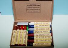 24 wachsmalstifte V. Stockmar en 1 caja, nuevo, Waldorf, escuela, pintar