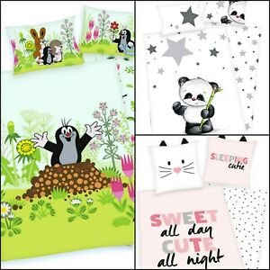 100%Cotton Printed Flannel Duvet set with Pillowcase Kids Cot Bed, Single!