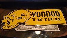 "Voodoo Tactical Large 10""W x 4""T Vinyl Sticker Decal OEM Original Authentic"