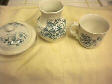 "Vintage KEW Ceramics Vase, Coffee Cup Dish w/Strainer & lid ""OLD"" English"