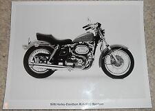 HARLEY-DAVIDSON ORIGINAL DEALERSHIP PHOTO 1978 XLH 1000 SPORTSTER BLK & WHT RF