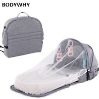 Portable Baby Foldable Bed Travel Mosquito Net Breathable Sleeping Basket Toys