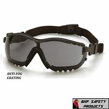 PYRAMEX V2G SAFETY GLASSES / GOGGLE HYBRID SMOKE GRAY ANTI-FOG LENS GB1820ST