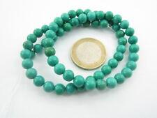 particolare turchese persiano verde/blu di 6 mm cabochon lungo 40 cm 67 pietre