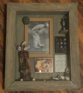 NWOT Wall Mounted Golf 3D Photograph Picture Shadow Box Wood Frame 3.5 x 5 Photo