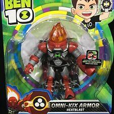 "Ben 10 - OMNI-KIX ARMOR HEATBLAST - 5"" ACTION FIGURE Cartoon Network PLAYMATES"