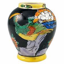 Takito TT Hand Painted Porcelain Miniature Bird Vase Flowers Mini Japan Vintage
