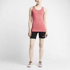 NIKE Pro Women's Dri-Fit Hypercool Limitless Tank Top Shirt Sunblush Pink  LARGE