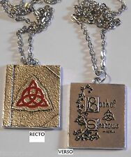 Charmed collier réplique livre des ombres Charmed Book of Shadows pendant