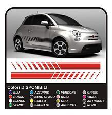 Adesivi per FIAT 500 stile abarth per 500 stickers decals KIT fasce laterali