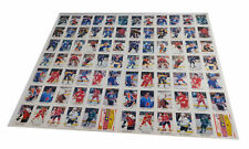 "Lot of (2) 1987-88 OPC O-Pee-Chee Hockey Uncut Sheets Stickers 13"" x 21"""