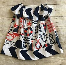 Boutique Custom Etsy Girls 24 mo /2T Nautical Dress EUC
