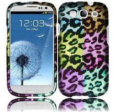 For Samsung Galaxy S III 3 Rubberized HARD Case Phone Cover Colorful Leopard