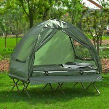 SoBuy Feldbett 4in1-Zelt mit Campingliege Schlafsack 2 Personen,OGS32-L-GR