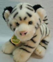 "Aurora Babies CUTE SOFT WHITE SIBERIAN TIGER 10"" Plush STUFFED ANIMAL Toy"