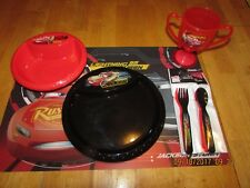 Disney/Pixar Cars 6 pc. dinner set, w/ placemat, brand new with free shipping !