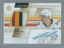 2019-20 SP Authentic SEAN MONAHAN Limited Auto Materials 52/100 4 CLR Cgy Flames