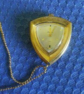 "Vintage Lucerne Mid Century ""Lady"" Pendant Watch Necklace WORKS!"
