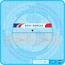 Eddy Merckx Bicycle Decals Transfers - Stickers - Set 6 Masks