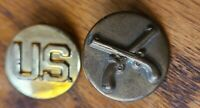 WW2 US Army MP Military Police Enlisted Branch Collar Insignia EM BOS PAIR