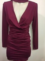 Womens Sz8 Stunning Burgendy Dress Bodycon Luvalot Brand