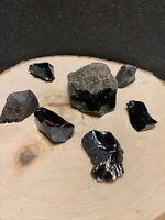 1lb Obsidian Natural Raw  Dragon Glass Butte Oregon Crystal Rough Stone Rock