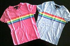 Girls Derek Heart Girl Pink Or Blue Rainbow S.S.T-Shirts Sizes 7/8, 10/12 & 14