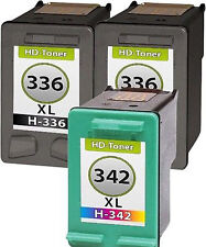 3 Tintas para HP 336 + 342 Photosmart 2575 c3100 c3180 psc1510