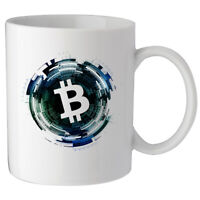 Blockchain Bitcoin Crypto Trader Custom Made Ceramic Coffee Tea Mug Cup Glass