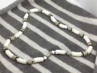 White & Grey Puka Shell Necklace Surfer Beach Holidays Gift Hippy Boho Gift J183