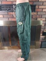 Vintage Green Bay Packers NFL Football Windpants Bottom Mens Size Large Green