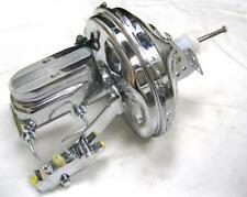 "GM 11"" Chrome Power Brake Booster + 1"" Milled Master Cylinder Disc Disc Kit GTO"