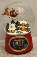 San Francisco Music Box Traditional Holiday Snow Globe ~ Here Comes Santa Claus