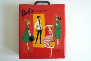 Barbie Vintage Pre-1973 with Doll, Case, Wigs, and Some Clothes