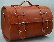 Medium Leather Top Case Roll Bag Vespa Primavera PX LXV GTS GTV Honey Brown Tan