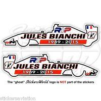 JULES BIANCHI RIP Formula 1 F1 75mm Sticker Adesivo Aufkleber Autocollant x2