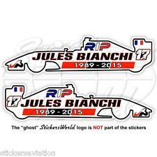 JULES BIANCHI RIP Formula 1 F1 120mm Sticker Adesivo Aufkleber Autocollant x2