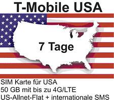 t-Mobile USA Prepaid SIM mit 50 GB 4G/LTE + US-Allnet-Flat für 7 Tage