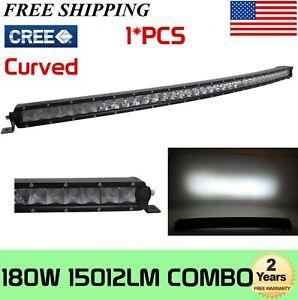 37inch 180W Curved Single Row LED Light Bar Slim for Jeep GMC ATV Truck 4WD 234W