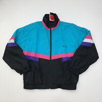 NEW Vintage Women's Pierre Cardin Windbreaket Jacket Size 1X Color Block