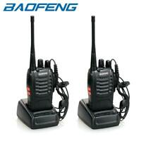 2 x BaoFeng BF-888S Two-way Ham Radio UHF 400-470MHz Walkie Talkie Transceiver
