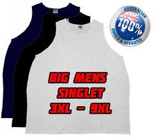 plus size summer singlet big mens clothing 3XL, 4XL, 5XL, 7XL and 9XL Big Aussie