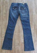"29 "" Antik Denim Women Sz 8 Jeans denim $176 whiskered bootcut leg low rise 34"""