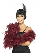 Burgundy red Feather Boa deluxe 1.80m 80g Gatsby burlesque costume accessory 20s