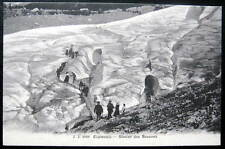 France~1900's CHAMONIX~ALPINISTS CLIMBING GLACIER~ALPS
