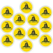 12x Don't Tread On Me Gadsden Sticker vinyl decal round Liberty Or Death Snake