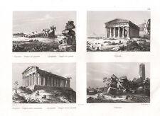 1835 Tempio dei giganti, Segesta, Tempio della concordia, Selimonte Agrigento