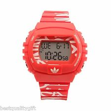 NEW ADIDAS DIGITAL RED+WHITE RUBBER NEW YORK CITY/NYC WATCH-ADH6130